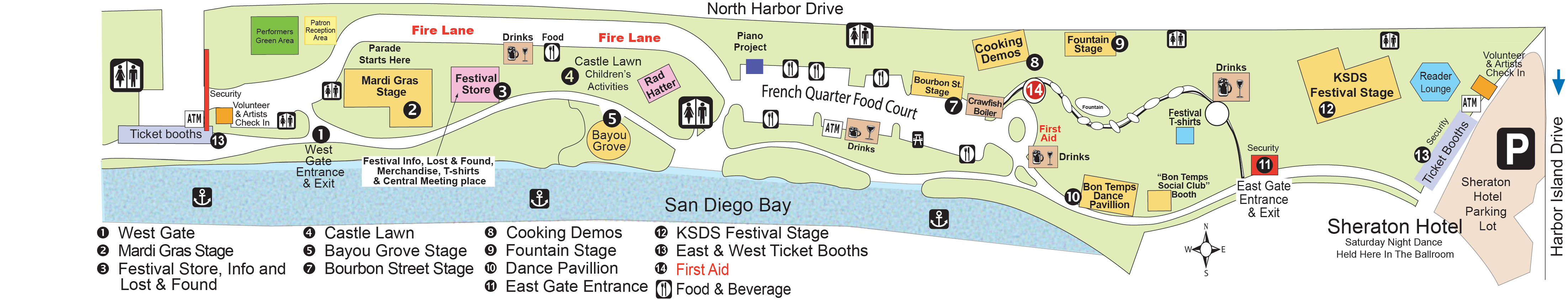 Gator By The Bay Festival Site Map